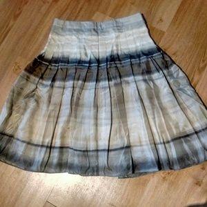 Theory Silk Knee Length Skirt SZ 2